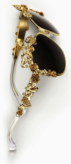 Luxe gold rose sunglasses, so chic.