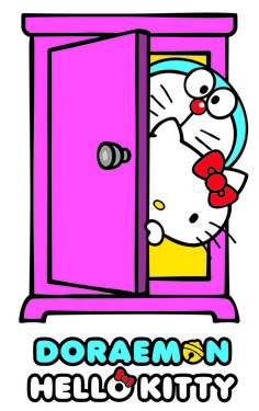 Doraemon & Hello Kitty Collaboration Promises 320 Different Products - Interest - Anime News Network Anime News Network, Doraemon Cartoon, Doraemon Wallpapers, Hello Kitty Wallpaper, Kawaii, Anime Fnaf, Toy People, People News, Sanrio Characters