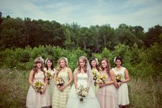 prettiest bridal party