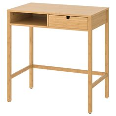 IKEA - NORDKISA, Dressing table, bamboo, Why not create a space in the bedroom or dressing room where everything you need to get ready for the day is close at hand? You can hide away your make-up and accessories in the drawer. The drawer can be accessed from both sides.