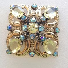"""Very large (3"""") vintage French Schiaparelli Brooch pin.  Runway piece."""