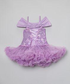Loving this Inspiration Group Lavender Sequin Tutu Dress - Infant, Toddler & Girls on #zulily! #zulilyfinds