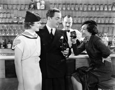 """Myrna Loy and William Powell as ;Nick and Nora Charles' from """"The Thin Man"""" film series. Thin Man Movies, Old Movies, Johnny Depp, Classic Hollywood, Old Hollywood, Hollywood Glamour, Maureen O'sullivan, Man Bars, Nick And Nora"""