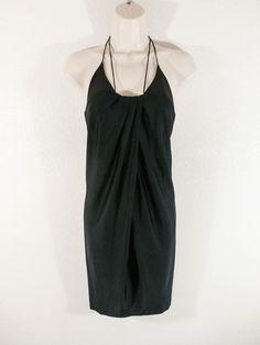 NWOT IODICE Sz XS BLACK TULIP SHAPE SUPER SEXY LITTLE DRESS #Iodice #Tulip #Cocktail