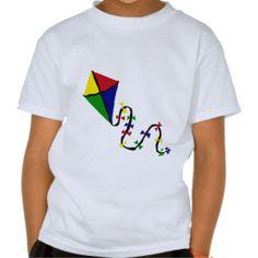 Colorful Kite Flying Art Tee Shirt #flying #kites #shirt #art And www.zazzle.com/naturesmiles*