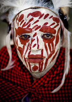 Kikuyu warrior face #tribal #Kenya