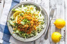 Fenchelsalat mit Linsengemüse - frisch und lecker, aber nächstes Mal weniger Linsen