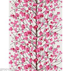 JOHN LEWIS MARIMEKKO LUMIMARJA WALLPAPER 13021 COLOUR MAGENTA