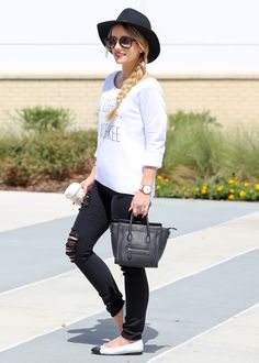 Black and white fall outfit idea