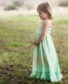 Well Dressed Wolf Mint Green Maxi Dress Girls Cutwork Sz 6   eBay