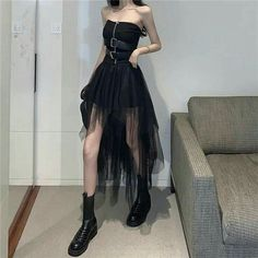 Korean Girl Fashion, Ulzzang Fashion, Korean Street Fashion, Kpop Fashion Outfits, Girls Fashion Clothes, Stage Outfits, Edgy Outfits, Korean Outfits, Cute Casual Outfits