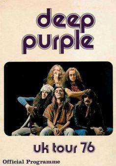 Deep Purple Mk IV tour programme UK tour 1976  Glenn Hughes, Tommy Bolin, David Coverdale, Ian Paice and Jon Lord
