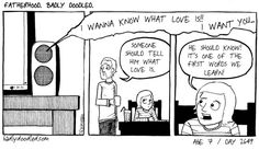 Image: Day 2649 Foreigner. #love #music #parenting #children #kids #comics #illustration #drawing #art