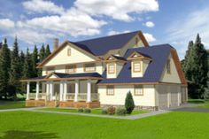 Houseplans.com Country Front Elevation Plan #117-291