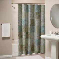 Vintage Paisley Patchwork Cotton Shower Curtain