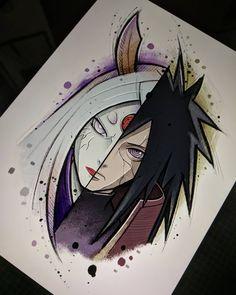Anime Naruto, Otaku Anime, Naruto Vs Sasuke, Naruto Shippuden Sasuke, Boruto, Naruto Art, Manga Anime, Naruto Tattoo, Anime Tattoos