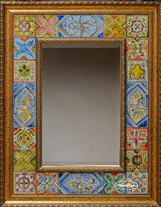 """Зеркало """"Итальянские изразцы"""" 70 х 90 см см, зеркало с фацетом, 15 000 рублей"""