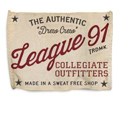 Rob Howell-League 91 Sweatshirt Label Font Art, Typography Fonts, Vintage Graphic Design, Graphic Design Inspiration, Lettering Design, Logo Design, Type Design, Ivy League Style, Portfolio Resume