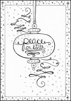 Day 24: Christmas Carol #4 - Peace on Earth Pen and Ink by Amalia Hillmann