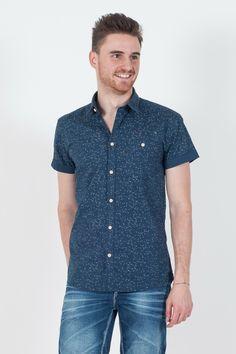 #Camicia da #uomo Originals by #Jack&Jones.  - Mezza manica - Microfantasia - 100% cotone - Lavaggio 40°C