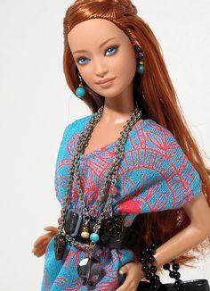 Custom OOAK Barbie named Amber by Peewee Parker, via Flickr