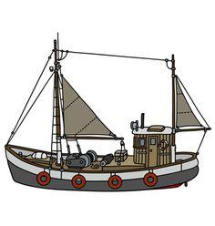 Czech Republic, Sailing Ships, Boat, Cartoon, Vehicles, Dinghy, Boats, Car