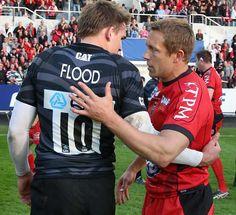 Jonny Wilkinson and Toby Flood