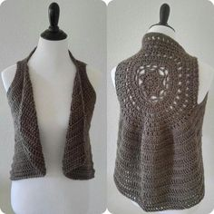 Crochet Patterns Neutral The Bodhi Boho Vest Pattern– Bodhi Life Crochet Gilet Crochet, Crochet Jacket, Crochet Cardigan, Crochet Shawl, Free Crochet, Knit Crochet, Crochet Vests, Crotchet, Crochet Circle Vest