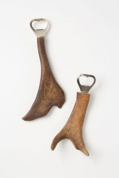 Reindeer antler bottle opener. Great gift for dudes! Made in Finland of only found horns that are shed seasonally.
