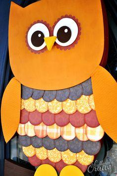 Owl Door Hanger & Giveaway - Stubbornly Crafty