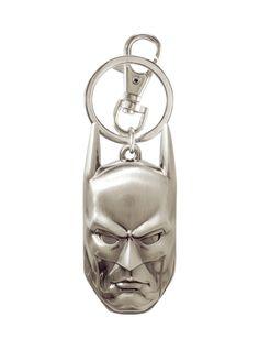 DC Comics Batman Head Pewter Key Chain   Hot Topic