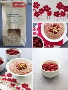 Raspberry Steel Cut Oatmeal
