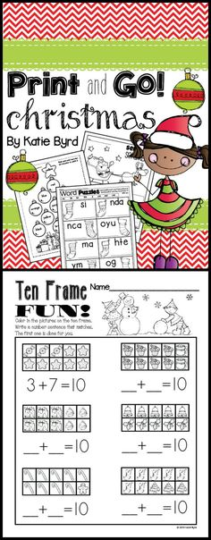 Fun, seasonal skills practice pages for December in your kindergarten classroom. Made to save your ink and time. Happy teaching! $