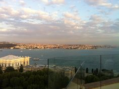 Rooftop terrace bar at The Swissotel, The Bosphorus, Istanbul