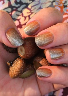 Pumpkin Spice ombre wrap Try out the latest & the greatest thing in nail…
