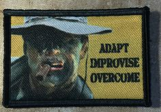 Heartbreak Ridge Gunny Highway Morale Patch Adapt Improvise Overcome