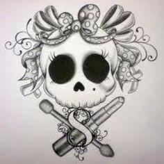 Skull+with+Bow+Tattoo+Drawing | Skull Art | Inked Magazine