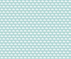 Puffy Clouds - Blue fabric by drapestudio on Spoonflower - custom fabric - coordinates with our YAYA Elephant quilt design - http://www.spoonflower.com/designs/3768329