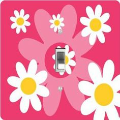 Rikki Knight Tropical Pink Daisies Retro Design Mouse Pad Mousepad - Ideal Gift for all occassions! Toggle Light Switch, Light Switch Plates, Light Switch Covers, Kitchen Lamps, Pink Daisy, Daisies, Photo Art, Knight, Kids Room
