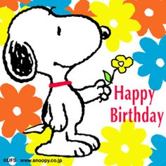 SNOOPY ~Happy Birthday. Cute #cartoon wallpapers www.freecomputerdesktopwallpaper.com/humorwallpaper.shtml Thank you for viewing!