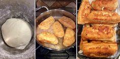 Το τέλειο σνάκ που λατρεύουν μικροί και μεγάλοι.Τα πιροσκί τρώγονται και κρύα αλλά συνήθως τα βάζω για λίγο στην τοστιέρα και μπούμ….τέλ... Greek Recipes, Feta, French Toast, Bread, Breakfast, Morning Coffee, Brot, Greek Food Recipes, Baking