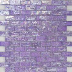 3/4 x 1 1/2 Inch Purple Iridescent Glass Subway Tile Super Sale