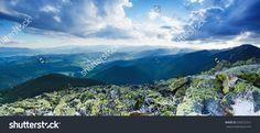 Carpathian Mountains Summer Landscape With Dramatic Clouds, Panoramic View Стоковые фотографии 200572721 : Shutterstock Summer Landscape, Mountain Landscape, Carpathian Mountains, Photo Editing, Royalty Free Stock Photos, Clouds, Splashback, Illustration, Travel