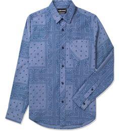 Navy Coast Button Up Woven Shirt