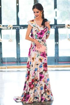 Gala Dresses, Casual Dresses, Formal Dresses, Pool Party Dresses, Summer Dresses, Tropical Dress, Chiffon Maxi Dress, Elegant Outfit, Lovely Dresses
