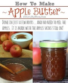Apple Butter Recipe, How to make apple butter,Quick and Easy Apple Butter, #Apples, #FallRecipes Fruit Recipes, Apple Recipes, Fall Recipes, Holiday Recipes, Holiday Meals, Top Recipes, Cobbler, Scones, Recipes