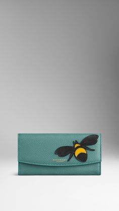 Bee Detail Leather Continental Wallet | Burberry