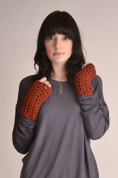 Chunky Crochet Gloves