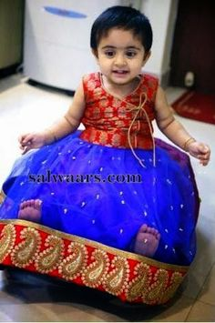 Red dress for baby girl indian