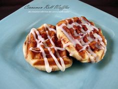 Cinnamon rolls in the waffle maker, super fast, easy and SO satisfying!